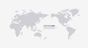 Kropkowana światowa mapa ilustracji
