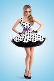 Kropkowana suknia Zdjęcie Royalty Free