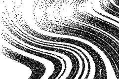 kropkowana tekstura Abstrakcjonistyczny grunge siatki lampasa tło zatwierdzenia falisty Czarny i biały kreskowa wektorowa ilustra ilustracji