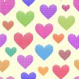 kropkowani abstraktów serca Obrazy Royalty Free