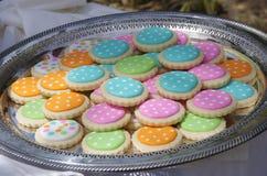 Kropkowani ciastka Zdjęcia Royalty Free