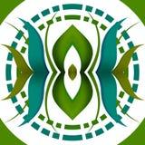 Kropkowani okręgi i liścia wzór Zdjęcie Royalty Free