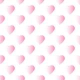 Kropkowany bezszwowy wzór z sercami Obrazy Royalty Free
