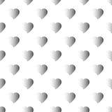 Kropkowany bezszwowy wzór z sercami Zdjęcie Stock