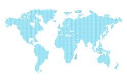 kropkowany mapa świata Zdjęcie Royalty Free