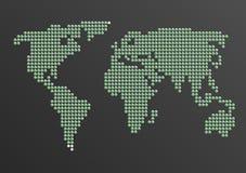 kropkowany mapa świata wektora wektor Obraz Stock