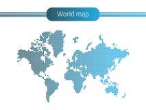 kropkowany mapa świata Obrazy Stock