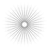 Kropkowany promieniowy element Okrąg, kurenda wzoru kształt royalty ilustracja