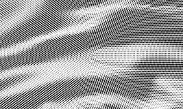 Kropkowany promieniowy halftone tło Deseniowy sukienny geometryczny grung Fotografia Royalty Free