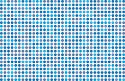 Kropkowany tło z okręgami, kropki, wskazuje Różnych cienie błękit Halftone wzór Zdjęcie Royalty Free