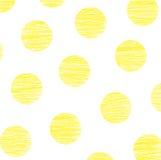 kropkuje polki kolor żółty Obrazy Stock
