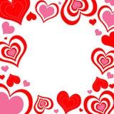 kropkuje serca valentine Obrazy Royalty Free