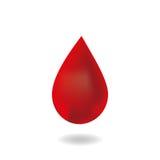 Kropla krew. Zdjęcie Royalty Free