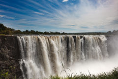 Kropla woda na Wiktoria Spada na Afrykańskim rzecznym Zam obrazy stock