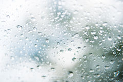 Kropla woda od deszczu na szkle Obraz Stock