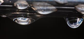 Kropla woda po deszczu Obraz Stock
