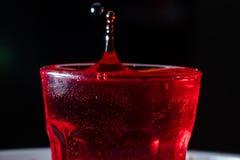krople czerwony ciecz zdjęcie royalty free