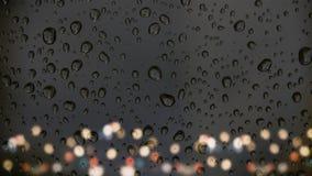 Krople deszcz na szkle Fotografia Royalty Free