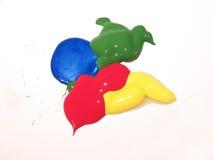 krople farbę. Obrazy Stock