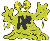 krople green Fotografia Royalty Free