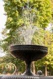 Krople i kiść fontanna Zdjęcie Royalty Free