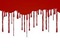 Krople krwi spływanie zestrzelają Obrazy Royalty Free