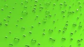 Krople na zielonym tle Obraz Stock