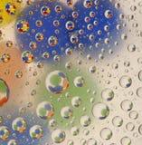 krople szklanek wody Zdjęcie Stock