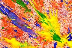 krople tapetują varicolored Zdjęcie Royalty Free