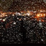 Krople w okno Fotografia Royalty Free