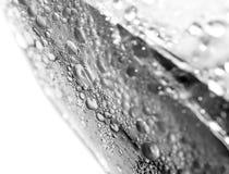 Krople woda na szklanej teksturze Zdjęcie Stock
