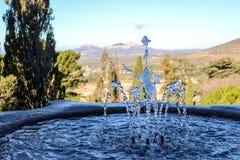 Krople woda od fontanny obrazy royalty free