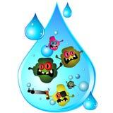 kropli brudna woda ilustracja wektor