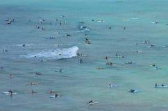 Kropp av surfare arkivfoto