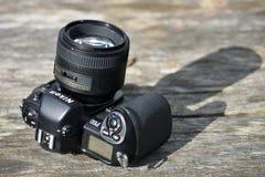 Kropp för kamera för Nikon F--100film Royaltyfri Fotografi