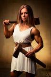 Kroppsbyggare för ung kvinna royaltyfria foton