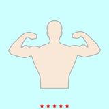 Kroppsbyggaren är det färgsymbolen vektor illustrationer