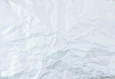 krossad paper texturwhite Fotografering för Bildbyråer