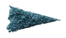 Krossad textur av skugga eller pulver för marinblått öga arkivfoto