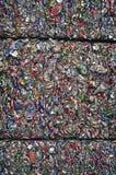 krossade aluminum cans Royaltyfri Fotografi