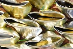 krossade cans Fotografering för Bildbyråer