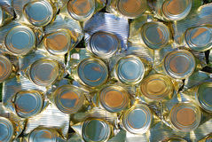 krossade cans Royaltyfria Bilder