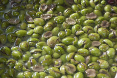 Krossade oliv Arkivfoton