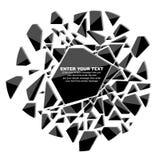 Krossade stikers för beståndsdelmallmeddelande Arkivfoton