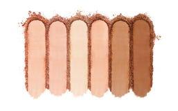 Krossat pulverfundament för makeup royaltyfria bilder
