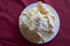 Krostule, gâteau traditionnel dans Istria, Croatie images libres de droits