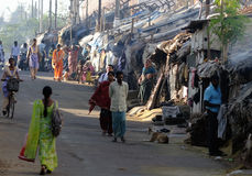 Krottenwijk in Bangalore India Stock Foto
