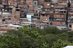 Krottenwijk, buurt van Sao Paulo, Brazilië stock foto