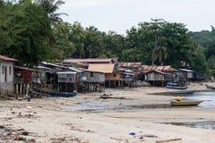 Krottenwijk in de kust Stock Foto's