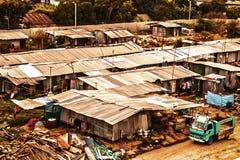 Krottenwijk in de Stad van Bangkok stock foto's